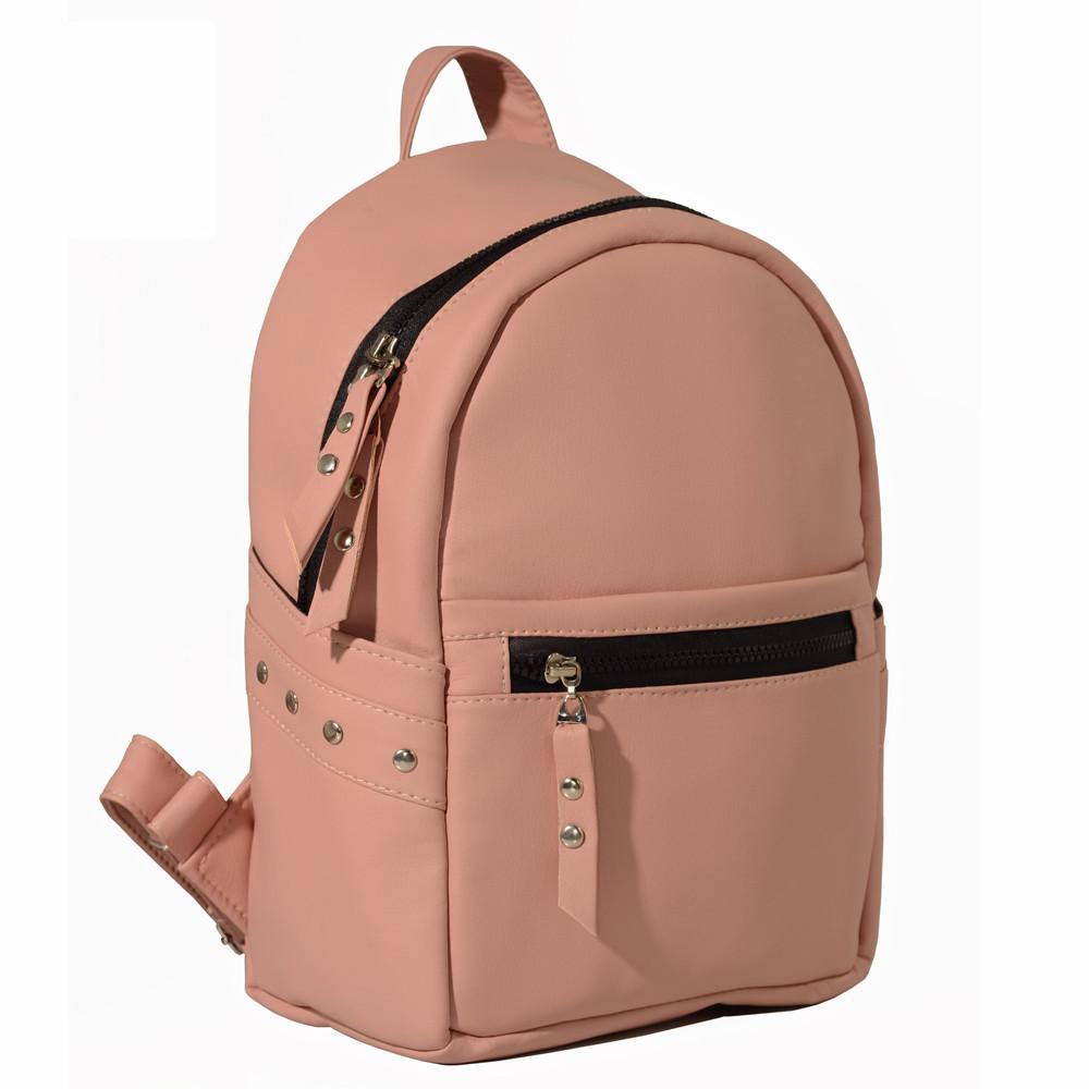 Женский рюкзак розовый SamBag пудровый 35х25х12 см. 15378006e
