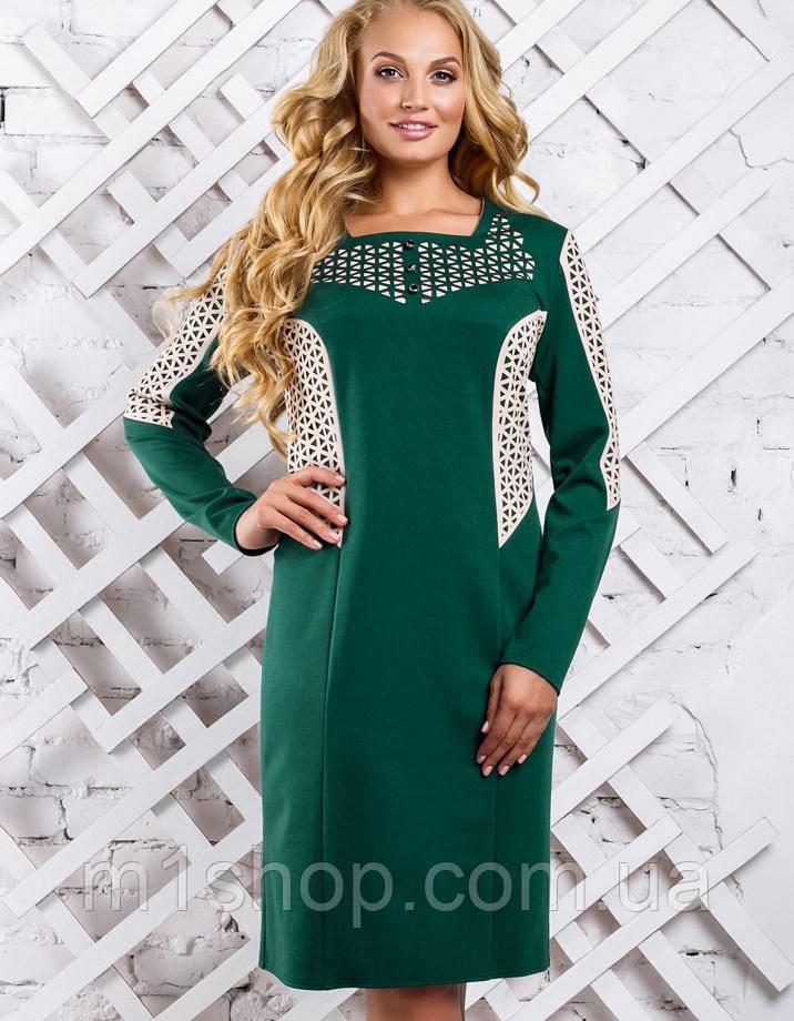 Женское перфорированное платье больших размеров (2320-2321-2322 svt)