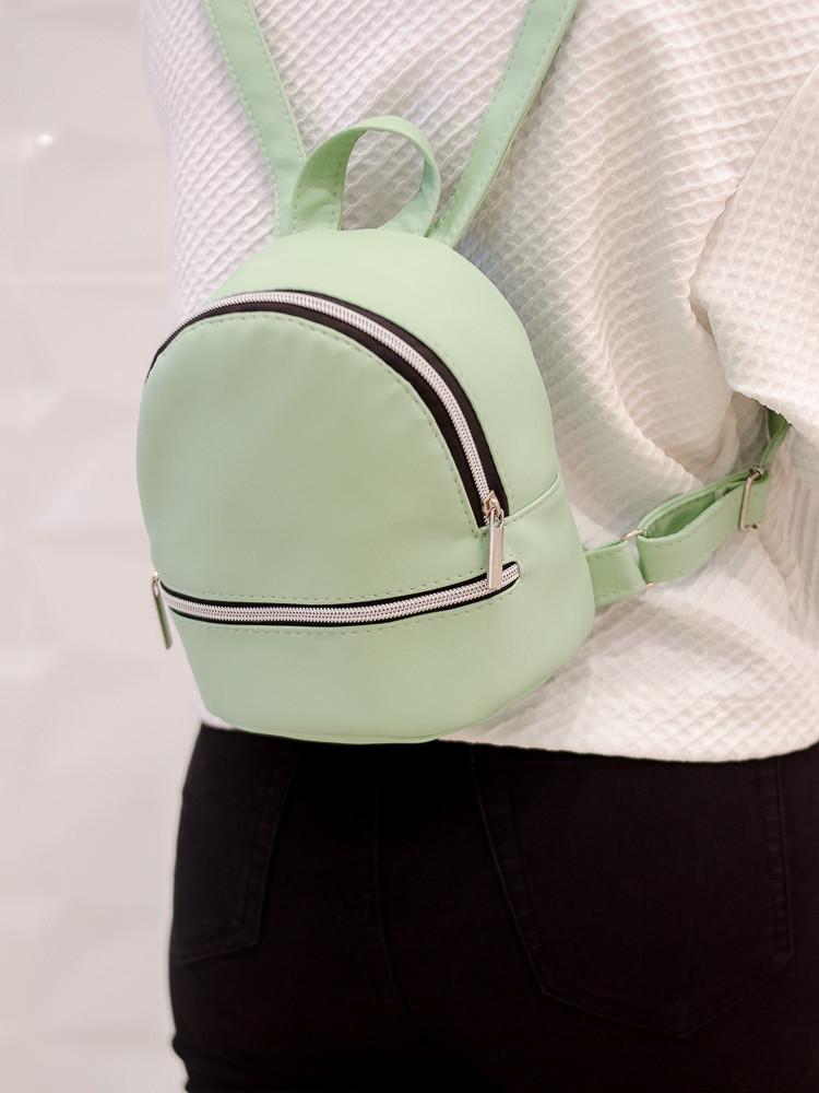 Рюкзак женский мятный Sambag зеленый 19.5х16.5х9 см. 17114014