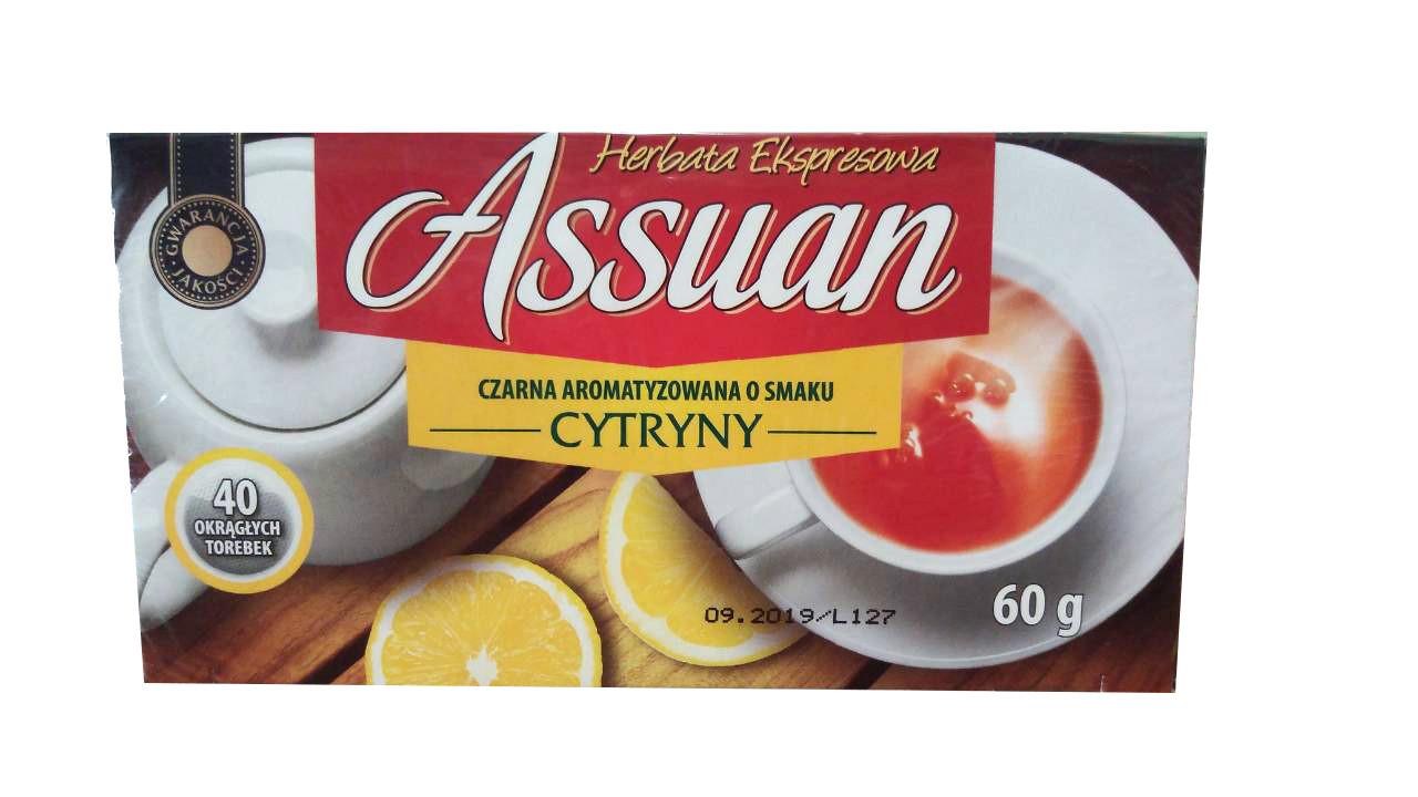 Чай черный «Assuan» Асуан Cytryny, 40 пакетиков