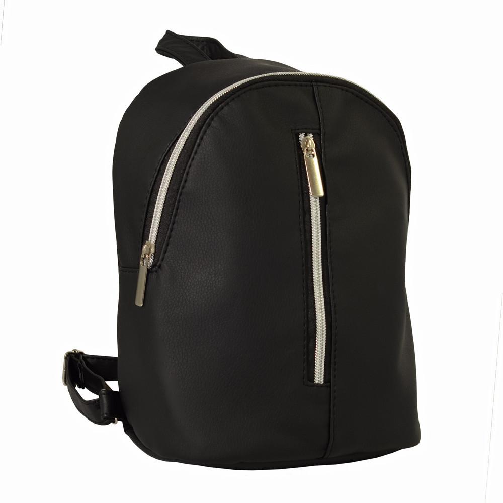 Маленький женский рюкзачок Sambag 24х19х10 см. черный 18224001