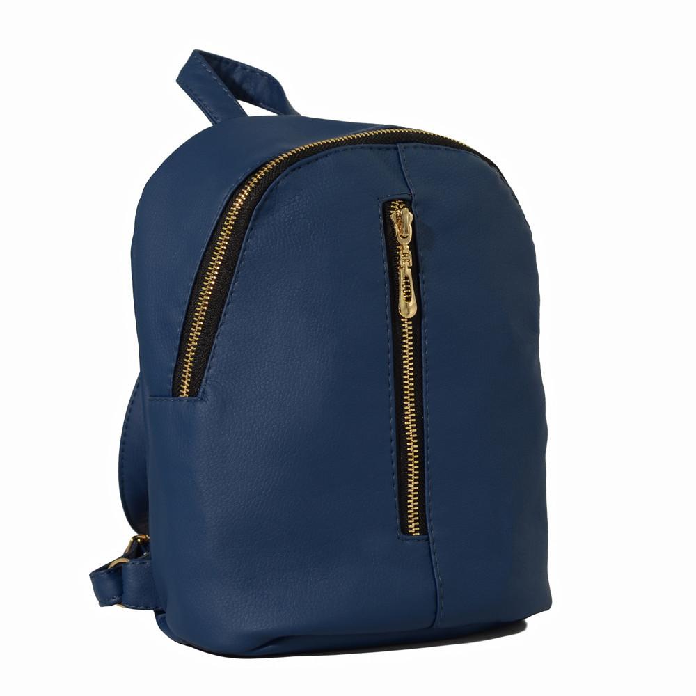 Мини рюкзак темно-синий женский