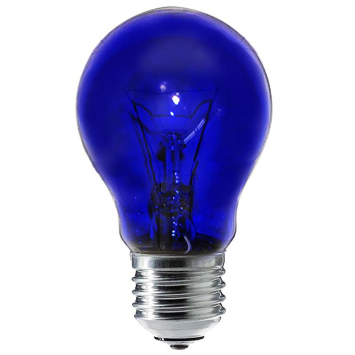 Лампа синяя Доктор 60 Ватт Е27 230В для рефлектора Минина