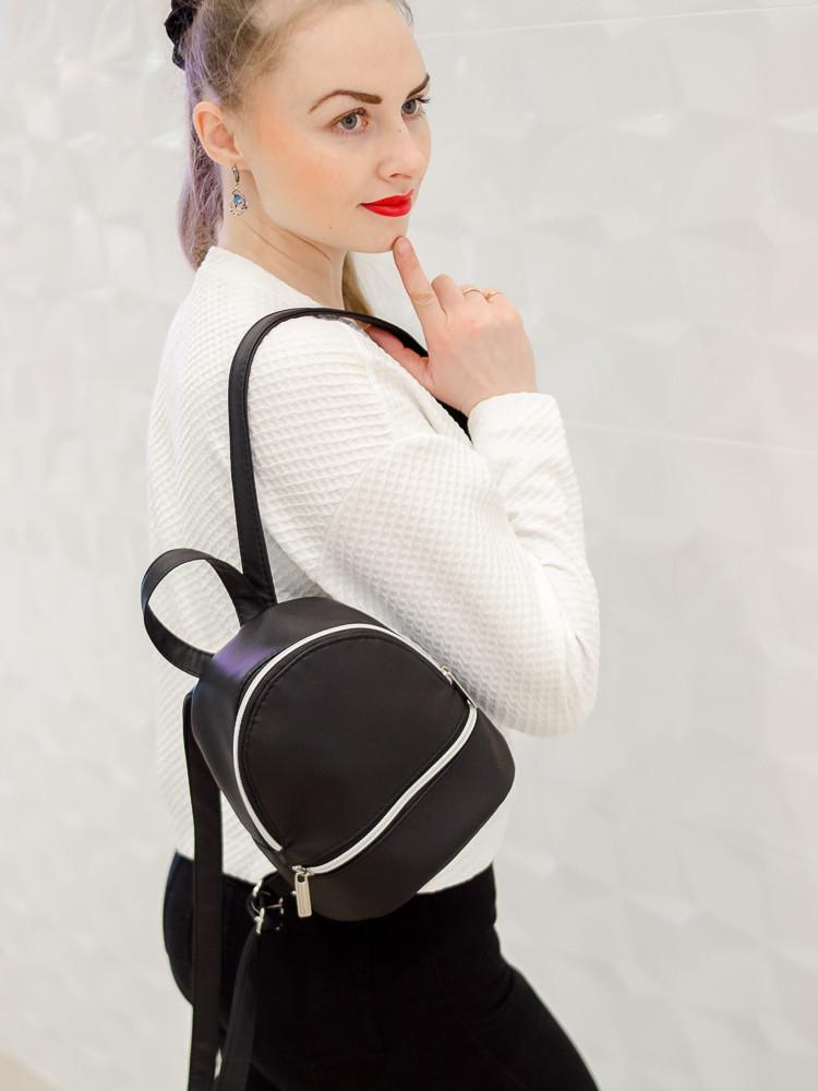 Городской мини-рюкзак черный для девушек