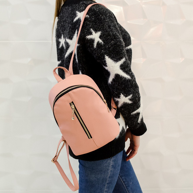 Мини рюкзак женский Sambag розовый пудровый 18225006