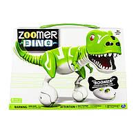 Интерактивная игрушка Зумер Дино зеленый Робот-динозавр Бумер от Spin Master / Spin Master Zoomer Dino Boomer