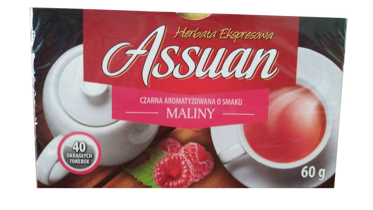 Чай черный «Assuan» Асуан Малина, 40 пакетиков