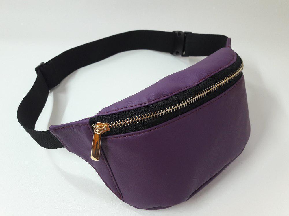 Сумка на пояс женская бананка Sambag поясная сумка 22x12x4 см. фиолетовая 80115018