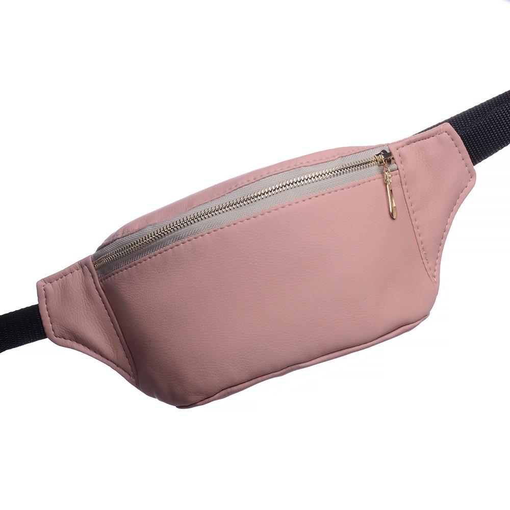 Женская сумка на пояс пудра Тирсо Sambag (сумки, бананка сумка, поясна
