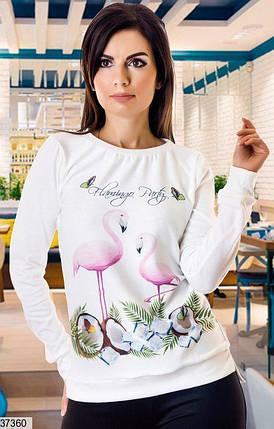 Свитшот Фламинго размер  42-44, 44-46, фото 2