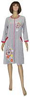 NEW! Женские велюровые халаты серии Dream Flowers Grey ТМ УКРТРИКОТАЖ!