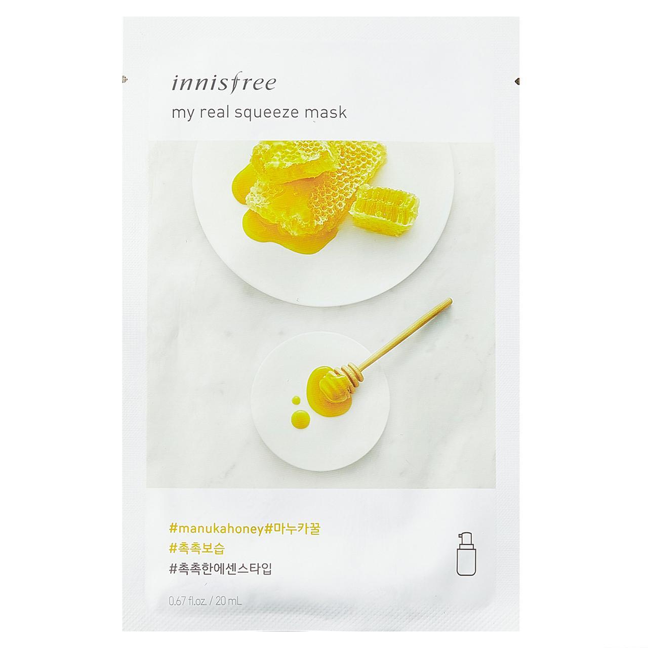 Маска с экстрактом мёда манука Innisfree My Real Squeeze Mask Manuka Honey 20 ml