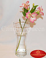 Ваза стеклянная для цветов талия 285 х135 мм