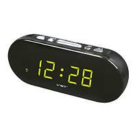 Часы сетевые 715-2 зеленые