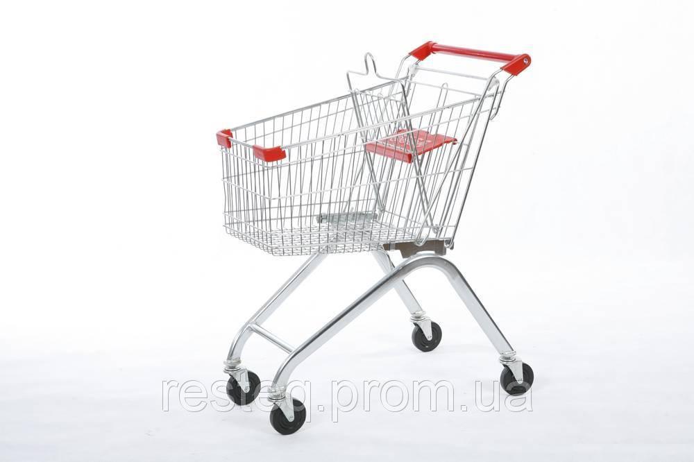 Тележка покупательская СИНЯЯ б\у WANZL EL 90 (Германия), торговая тележка бу
