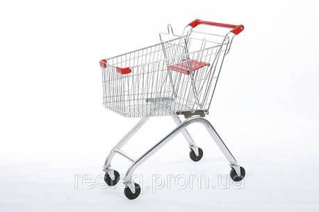 Тележка покупательская СИНЯЯ б\у WANZL EL 90 (Германия), торговая тележка бу, фото 2