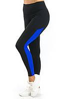 Спортивные лосины с высоким поясом (40,42,44,46,48,50,52,54,56) леггинсы для фитнеса из бифлекса НОРМА и БАТАЛ