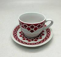 Кофейная чашка с блюдцем  90 мл. ВИШИВАНКА