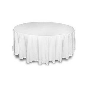 Скатерть диаметром 150см на круглый стол Р-195 Белая, фото 2