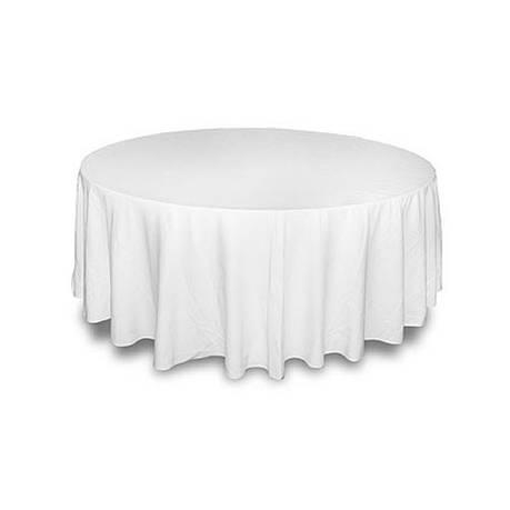 Скатерть ø150 на круглый стол Р-195 Белая, фото 2