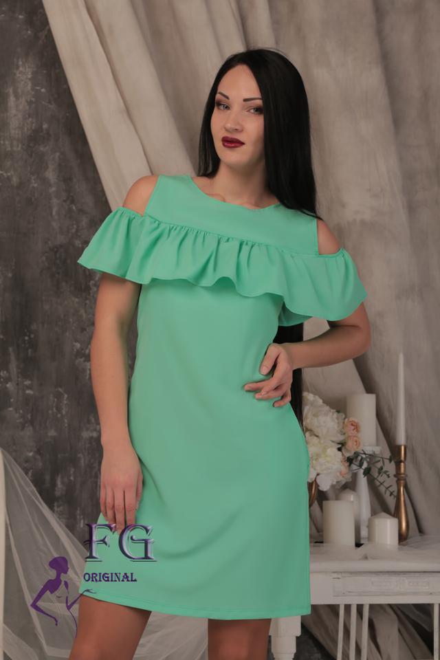 d83b602d5ca6 Платье с воланом на плечах