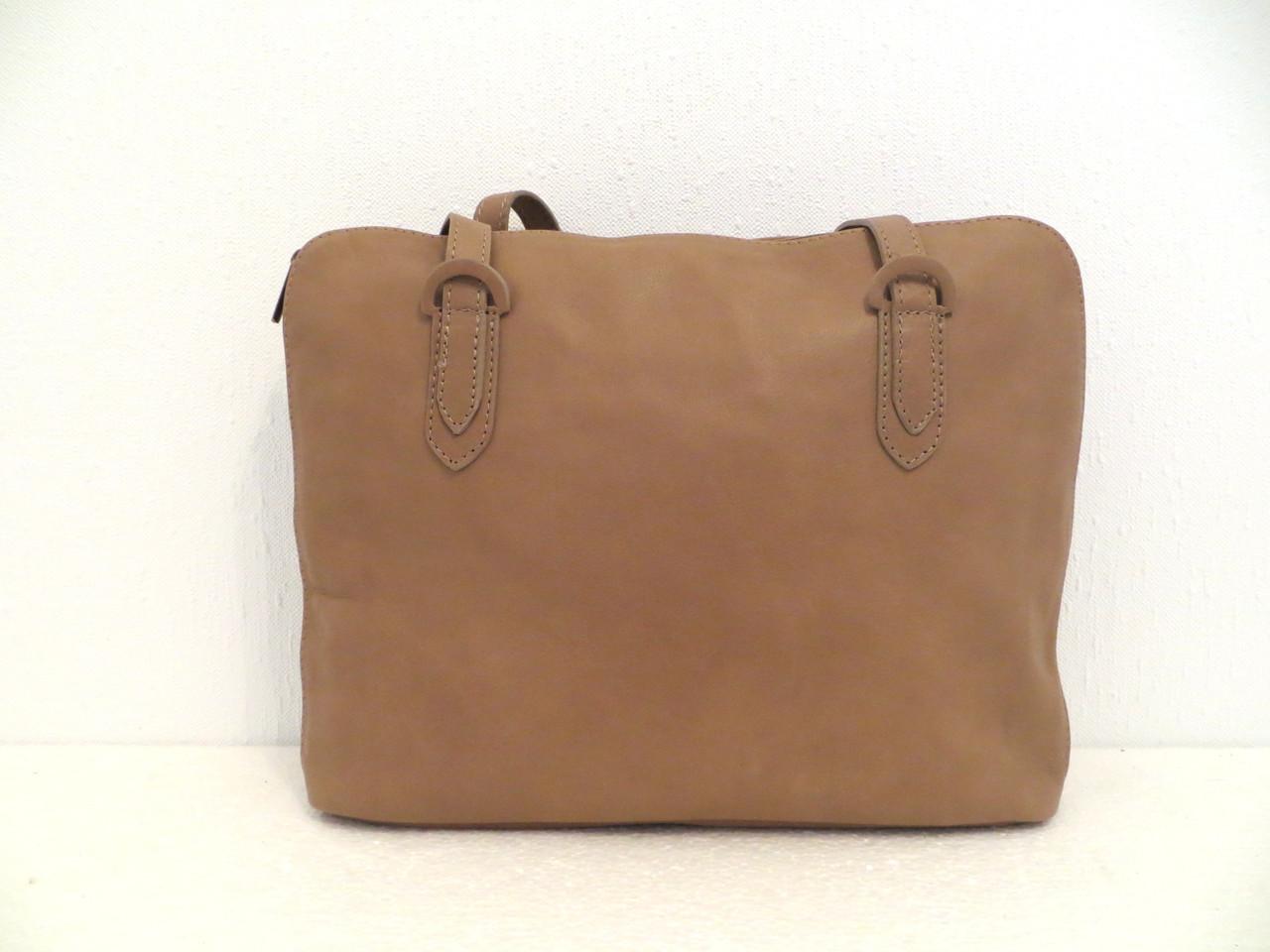 Стильная женская сумка. Натуральная кожа. Италия Кофе с молоком, фото 1