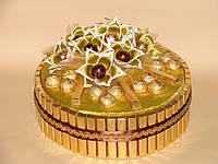 """Подарок к новому году,торт из конфет """"Золотые самоцветы"""""""