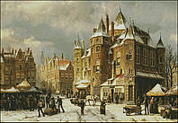 """Схема для вышивания """"Амстердам зимой"""" 480*331"""