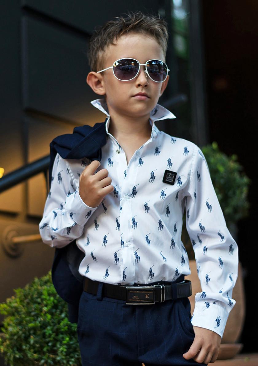 """Детская стильная рубашка для мальчика 614 """"POLO"""" в расцветках"""