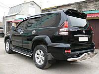 Спойлер задний Toyota Prado 120 оригинал черный окрашенный