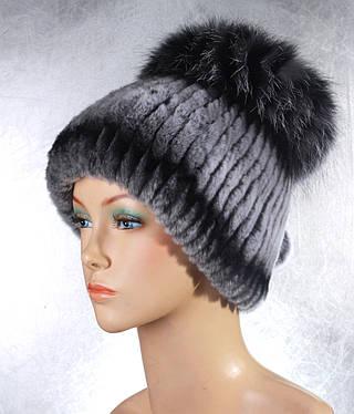Женская меховая шапка Бурундучок из рекса