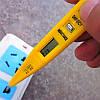 Викрутка індикатор тестер напруги фази C1325-01, колір жовтий, фото 4