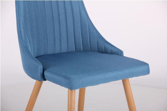 Стул Jasmine каркас бук/ткань цвет сине-серый (фото 6)