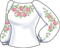 СВЖБ-8. Заготовка для вишивки бісером Жіноча сорочка лляна біла ... 163ef15ad29b6