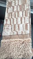 Покрывало на кровать меховое Норка 200х230 цвет беж (песочный)