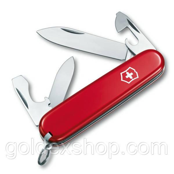 Нож складной Викторинокс Victorinox RECRUIT (10 функций), красный 0.2503