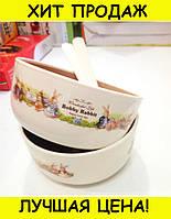 Набор детских тарелок Bobby Rabit Wonderful Life!Скидка