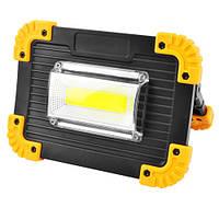 Прожектор светодиодный L811-20W-COB+1W, 2x18650/3xAA, ЗУ micro USB, Power Bank