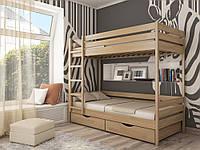 Кровать двухярусная Дуэт 80*190, пр-ль Эстелла,бук-щит, бук массив, магазин МК