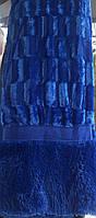 Покрывало на кровать меховое Норка 200х230 цвет синий