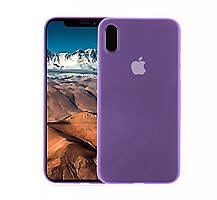 Ультратонкий фиолетовый надежный чехол для вашего iPhone X