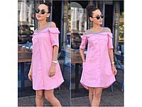 Летнее платье-рубашка на пуговицах 4 цвета 31186, фото 1