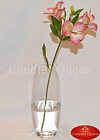 Ваза стеклянная для цветов овал узкий 260 х105 мм