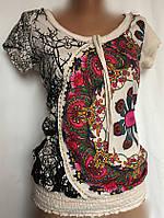Женская футболка Desigual в стиле кэжуал  размер S, фото 1