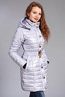 Зимняя женская молодежная куртка. Код К-52-12-15. Цвет лед.