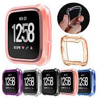 Защита для Fitbit Versa силиконовый чехол оранжевый