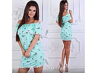 Летнее платье-сарафан с воланом украшено бахромой 31139, фото 1