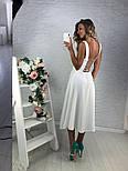 Женское красивый сарафан в горошек со шнуровкой на спине, фото 4