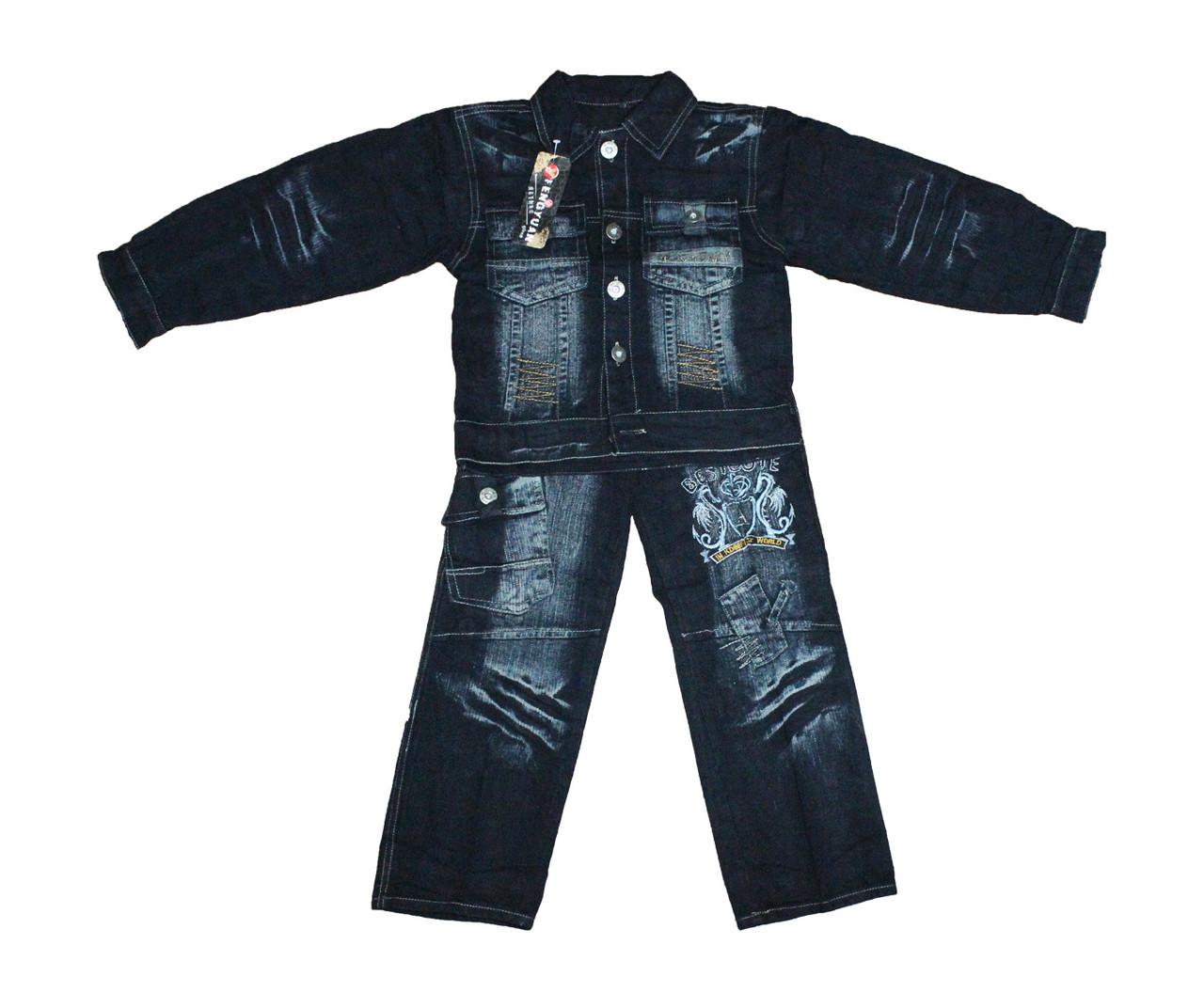 Костюм підлітковий джинсовий двійка для хлопчика. №806