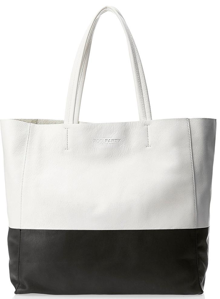 d186e42764c9 Женская кожаная сумка POOLPARTY Devine devine-white-black белый/черный